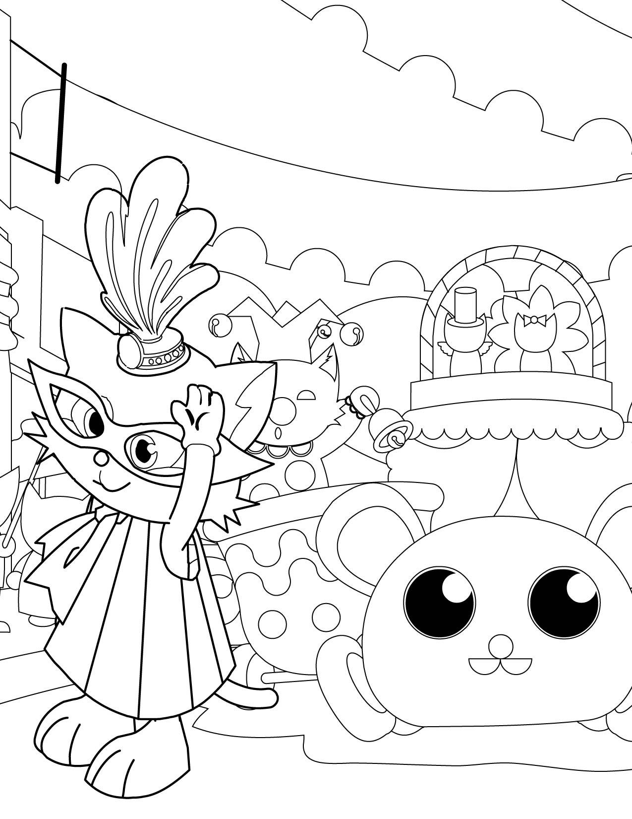 Masquerade coloring #2, Download drawings