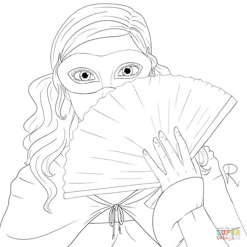 Masquerade coloring #13, Download drawings