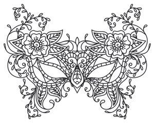 Masquerade coloring #14, Download drawings