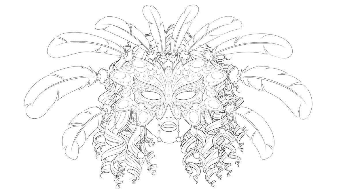 Masquerade coloring #19, Download drawings