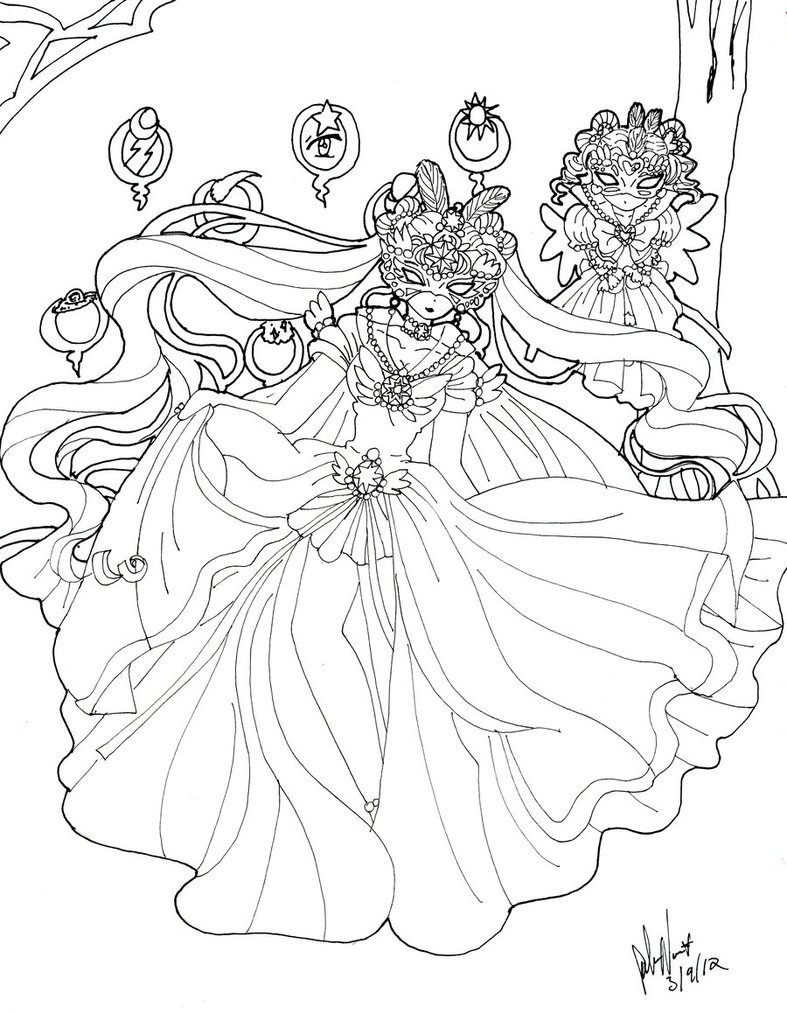 Masquerade coloring #10, Download drawings