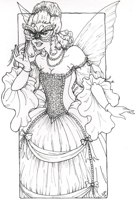 Masquerade coloring #7, Download drawings