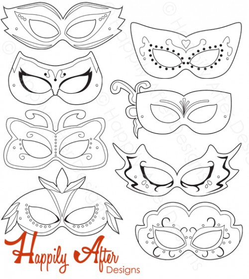 Masquerade coloring #12, Download drawings