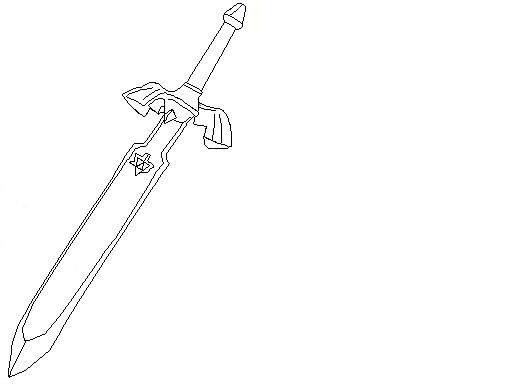 Master Sword coloring #10, Download drawings