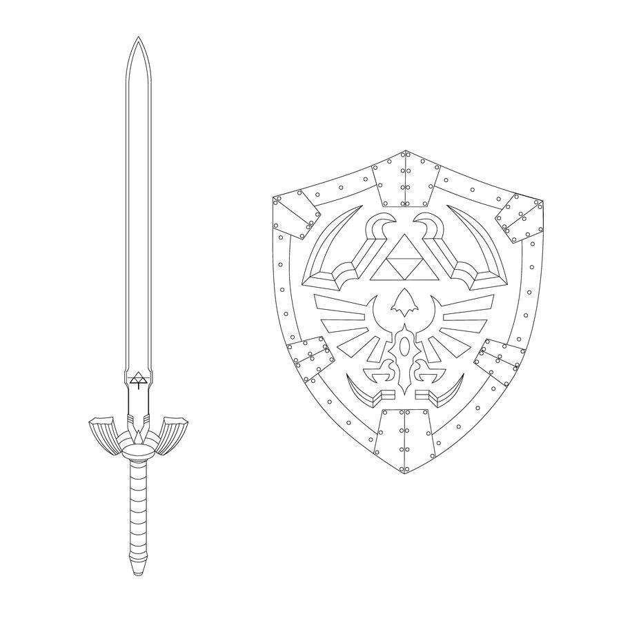 Master Sword coloring #11, Download drawings