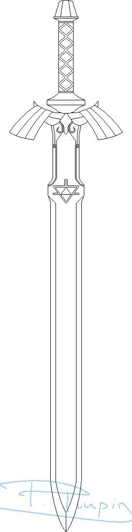 Master Sword coloring #6, Download drawings