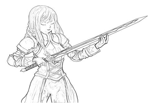 Master Sword coloring #3, Download drawings
