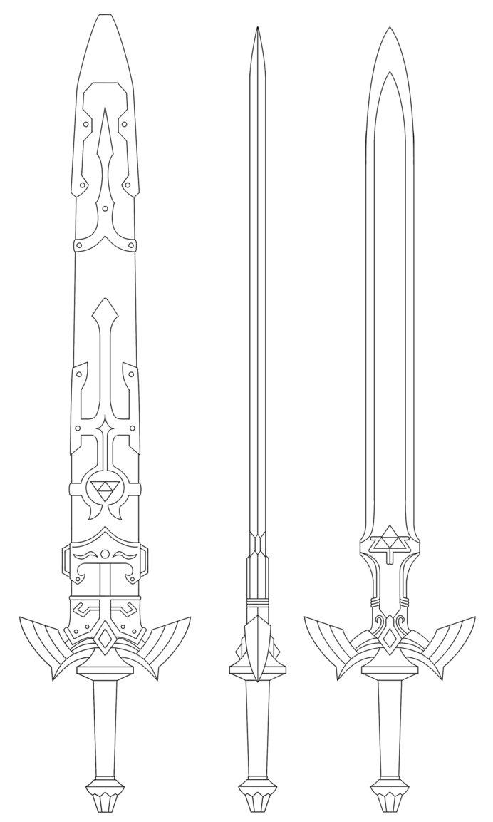 Master Sword coloring #12, Download drawings