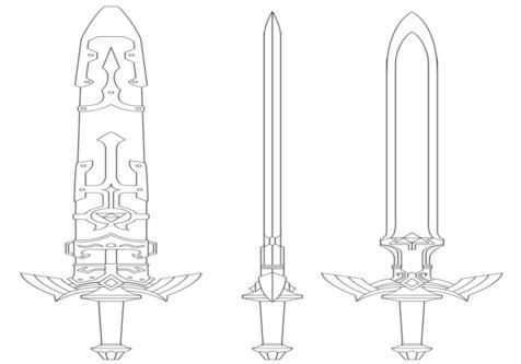 Master Sword coloring #15, Download drawings