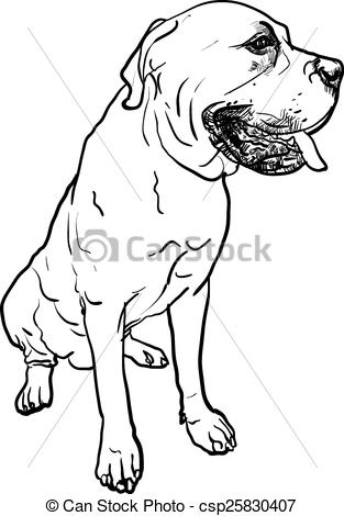 Mastiff clipart #9, Download drawings