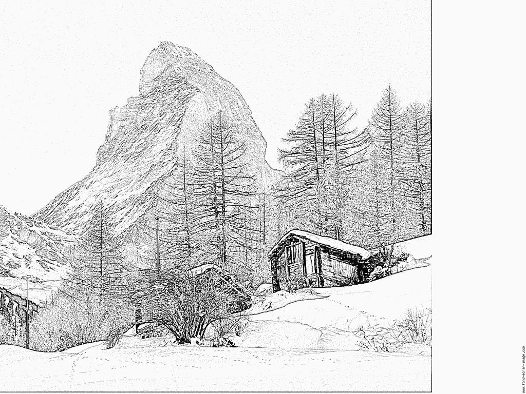 Matterhorn coloring #12, Download drawings