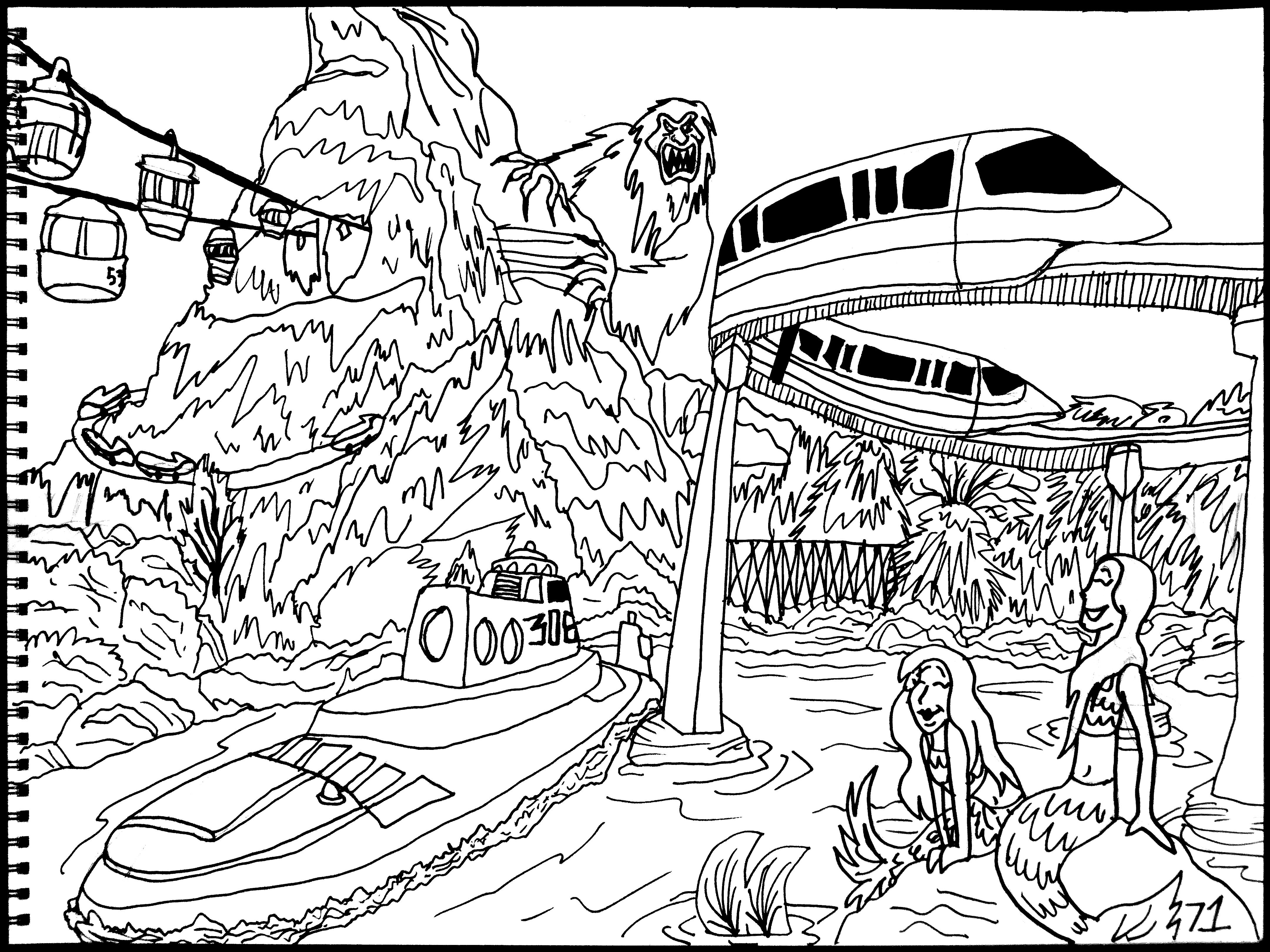 Matterhorn coloring #20, Download drawings