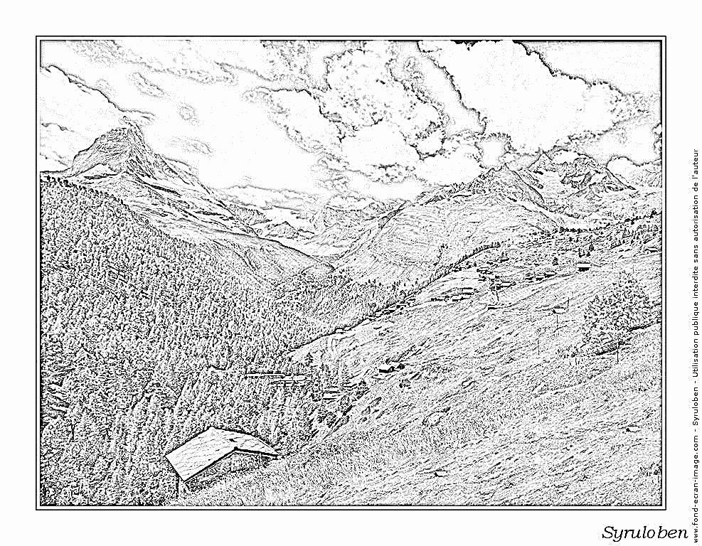 Matterhorn coloring #13, Download drawings