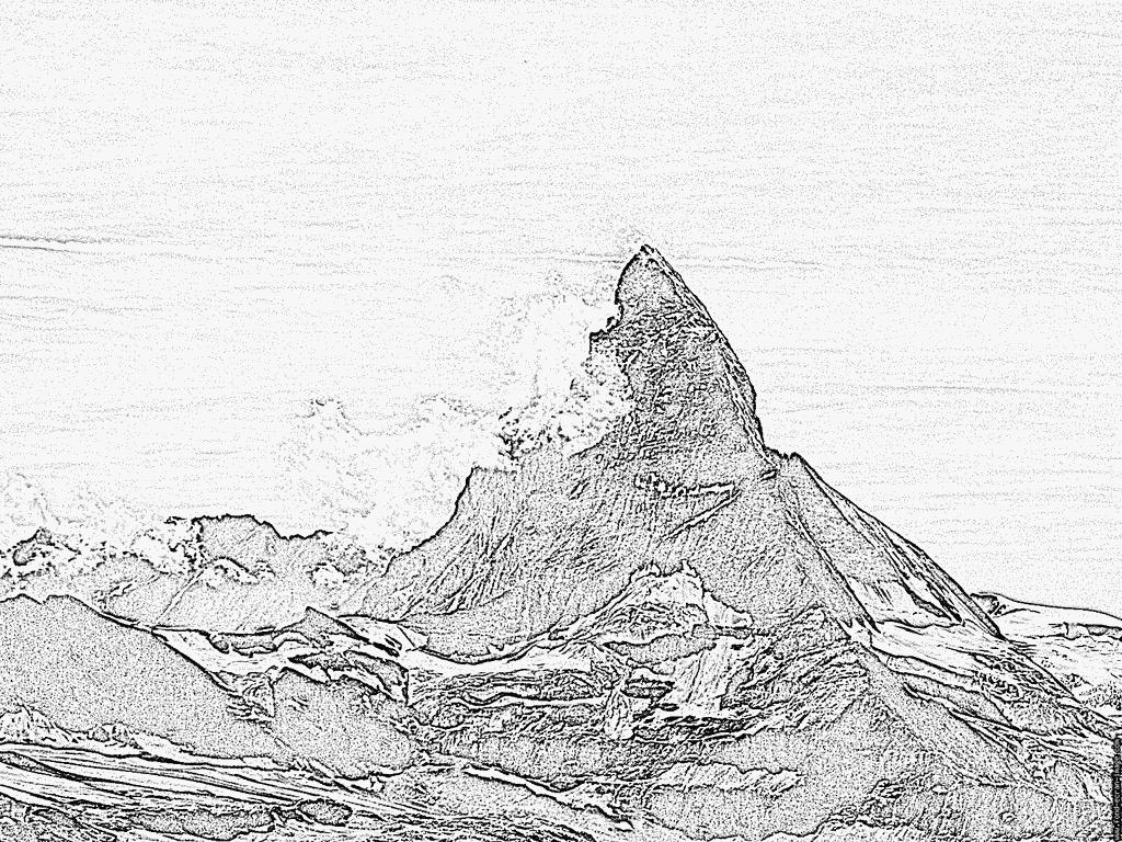 Matterhorn coloring #11, Download drawings