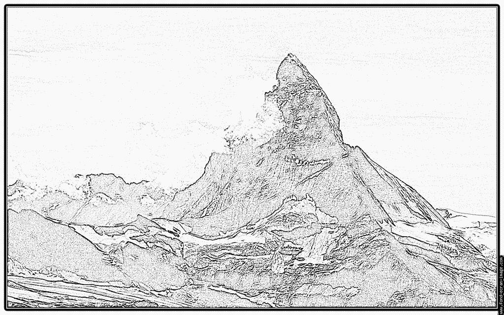Matterhorn coloring #10, Download drawings