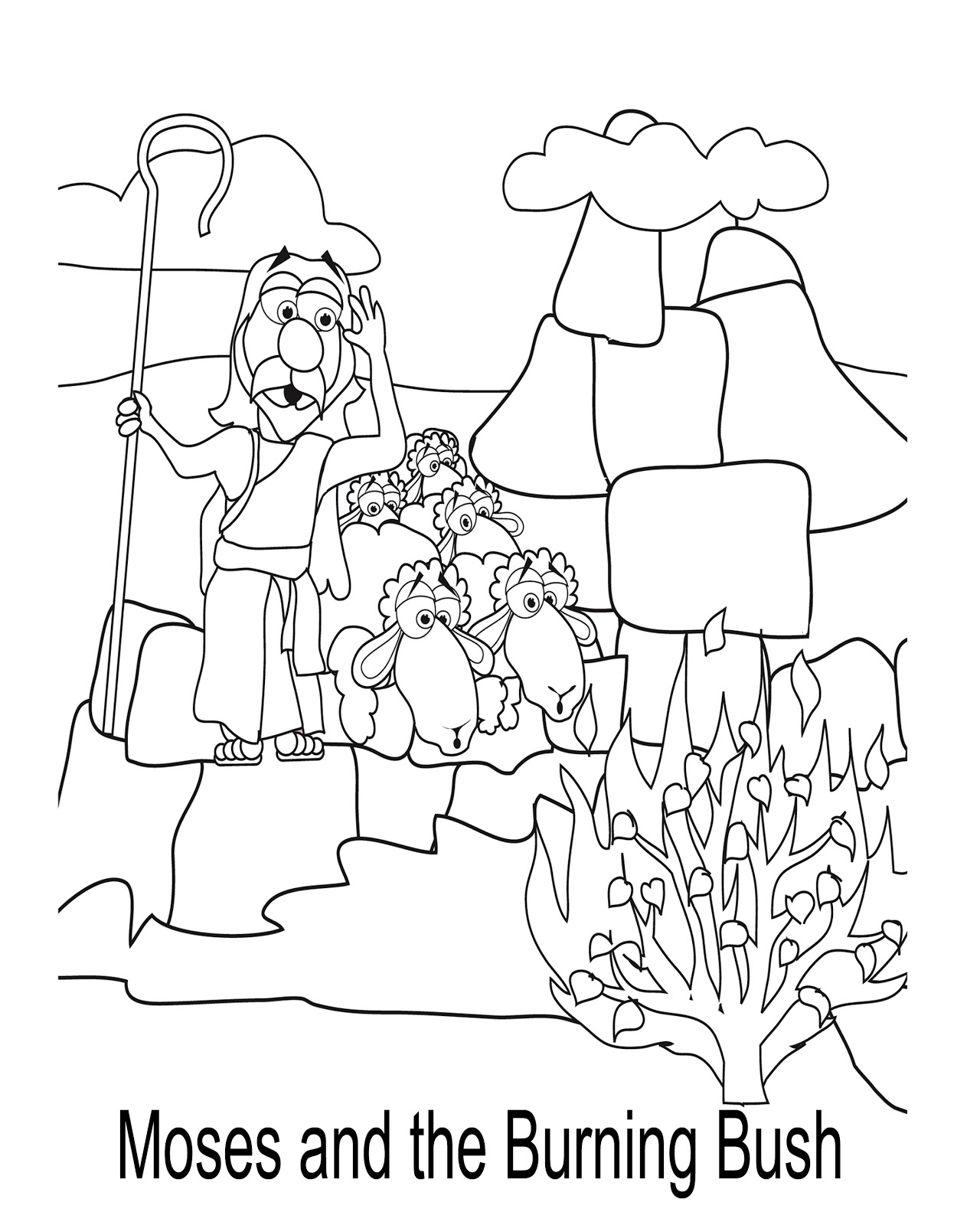Fellowship coloring download fellowship coloring for Bush coloring page