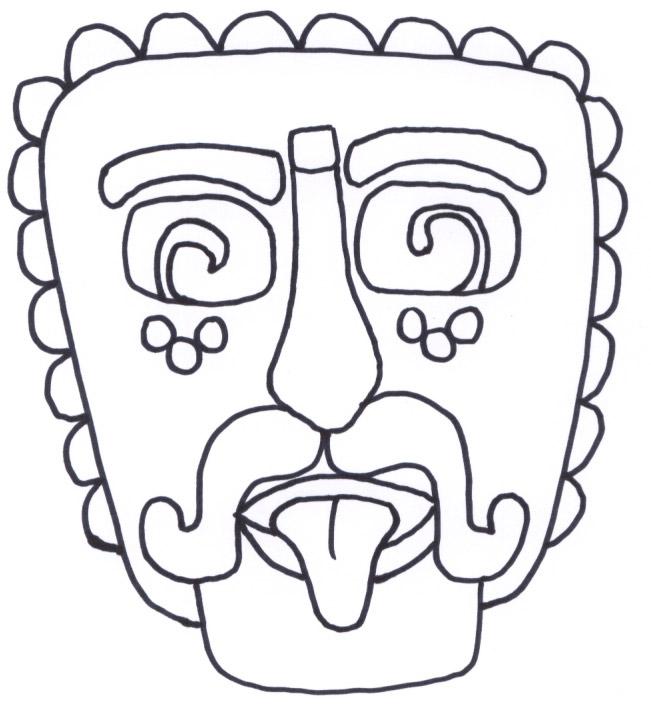 Mayan coloring #4, Download drawings