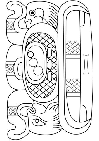 Mayan coloring #9, Download drawings
