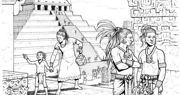 Mayan coloring #7, Download drawings