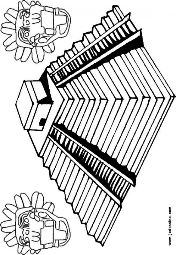 Mayan coloring #2, Download drawings