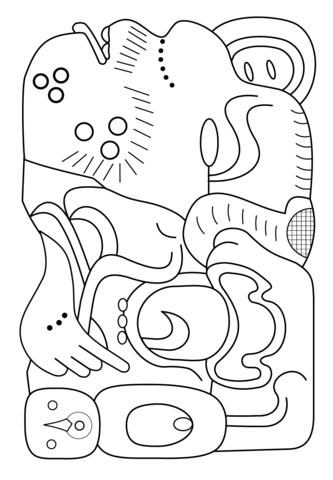 Mayan coloring #5, Download drawings