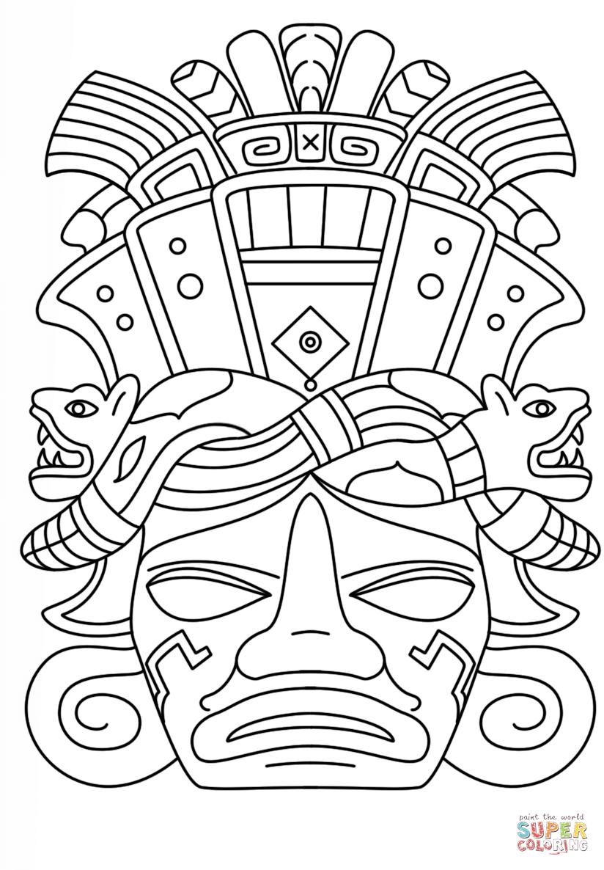 Mayan coloring #8, Download drawings