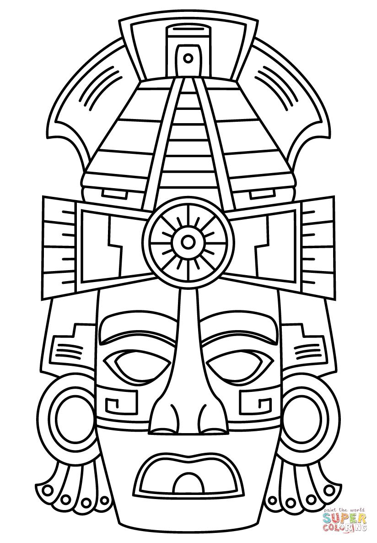 Mayan coloring #17, Download drawings