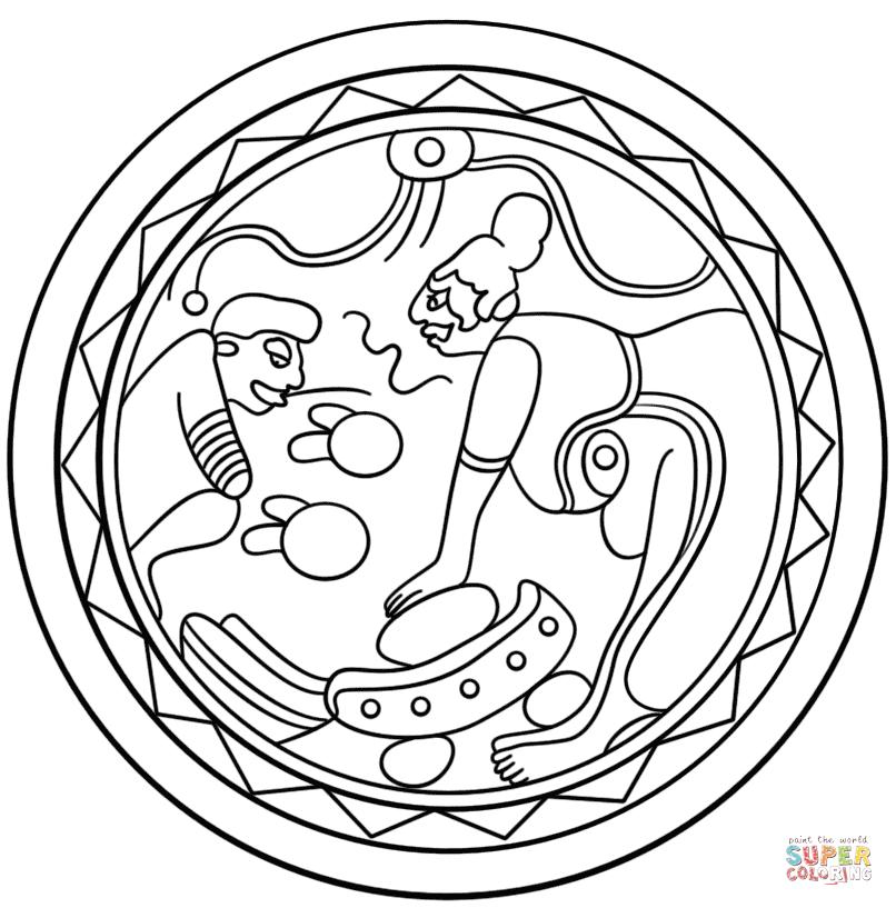 Mayan coloring #15, Download drawings