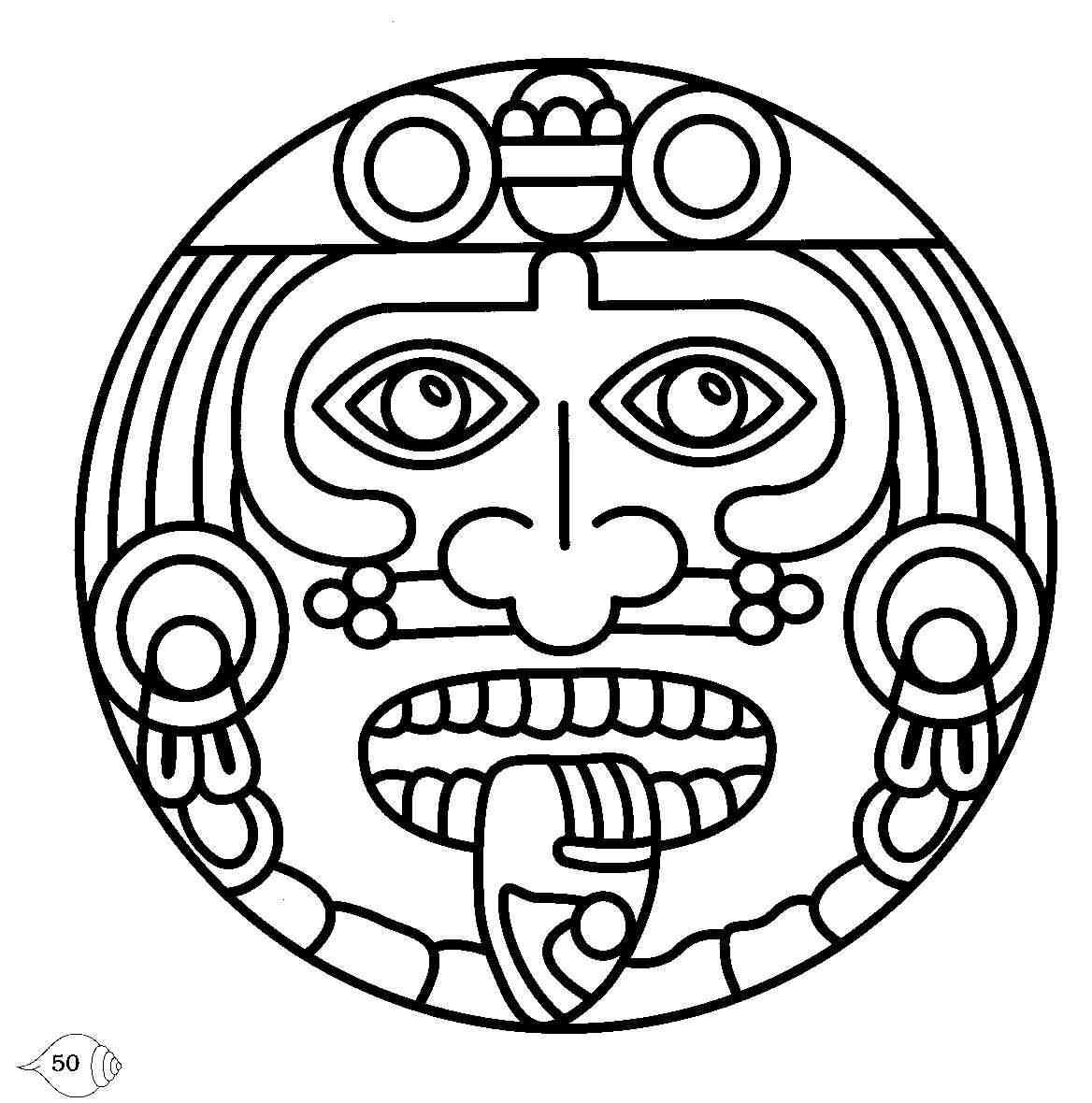 Mayan coloring #14, Download drawings