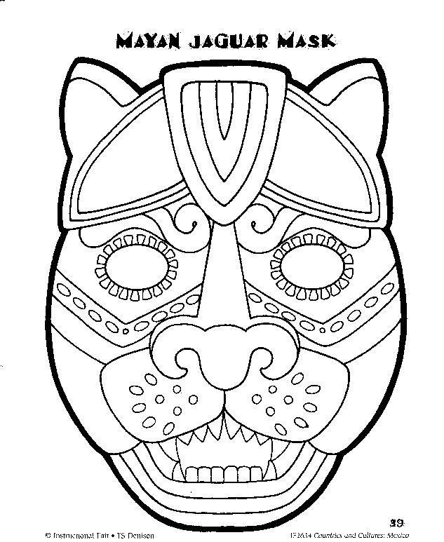 Mayan coloring #11, Download drawings