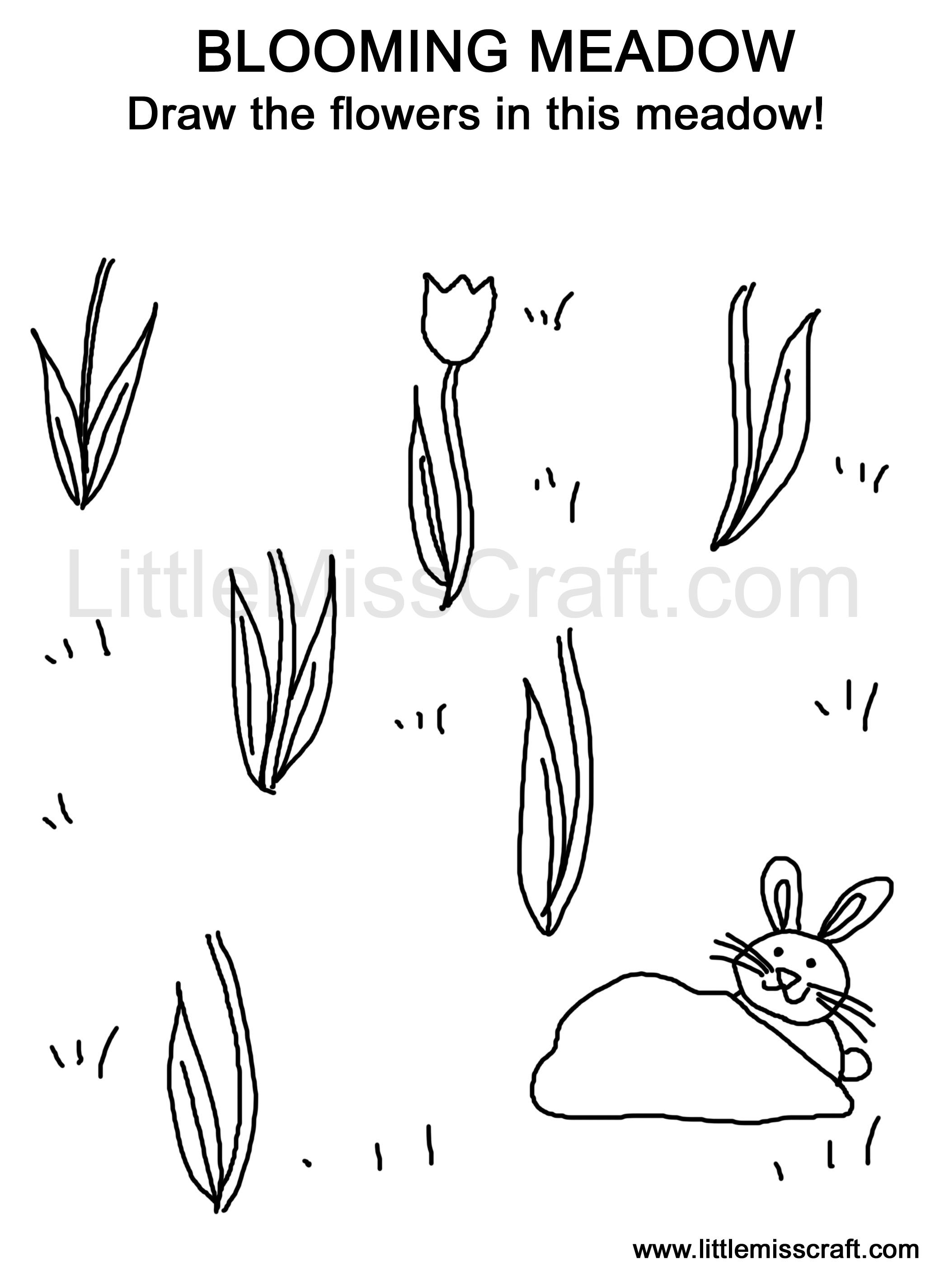 Meadow coloring #6, Download drawings