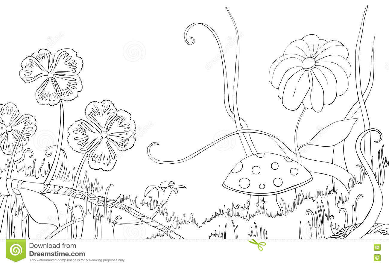Meadow coloring #19, Download drawings
