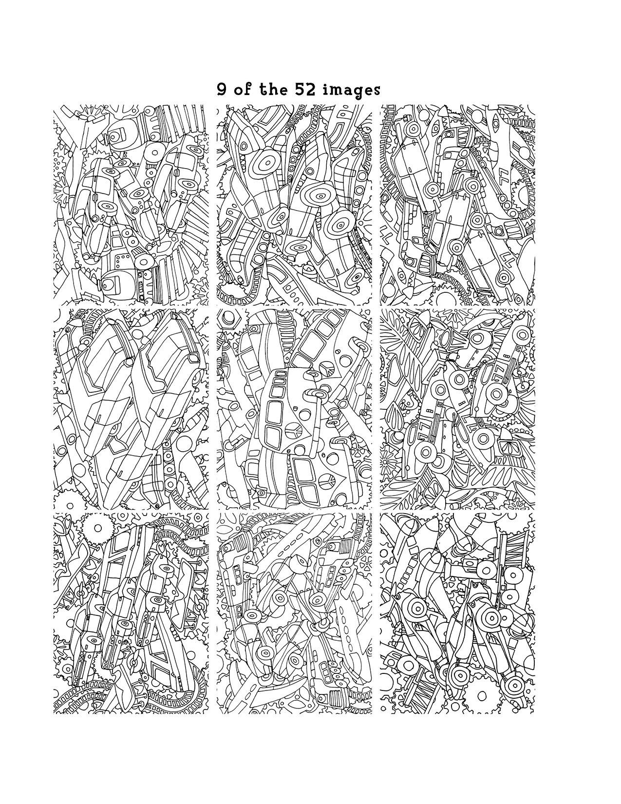 Mechanical coloring #11, Download drawings