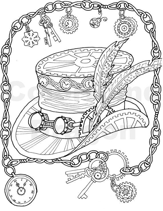 Mechanical coloring #7, Download drawings