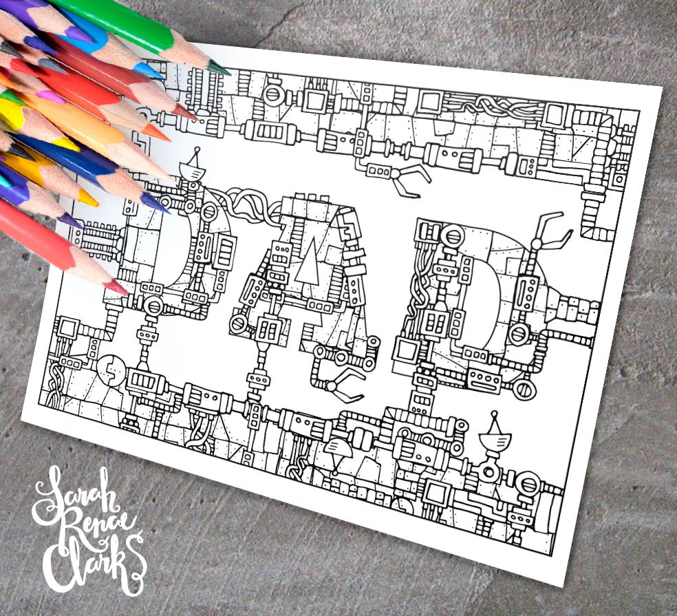 Mechanical coloring #2, Download drawings