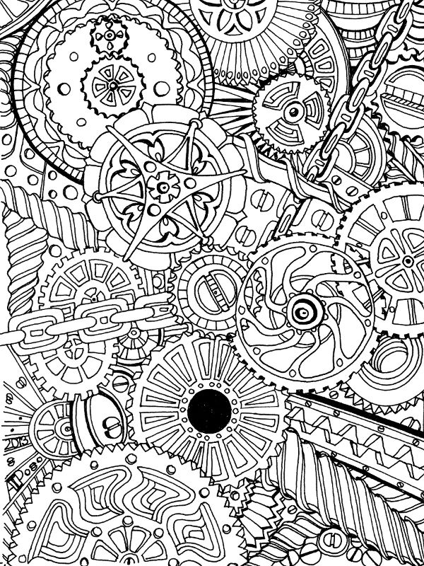 Mechanical coloring #14, Download drawings