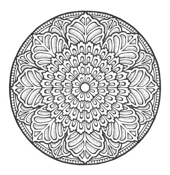 Medallion coloring #6, Download drawings