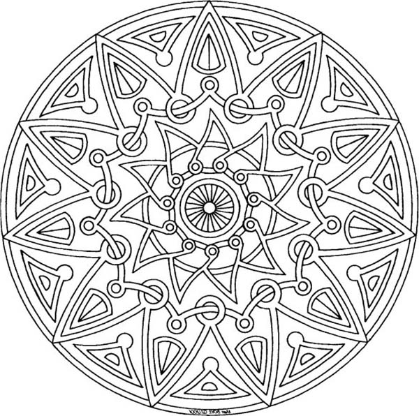 Medallion coloring #10, Download drawings