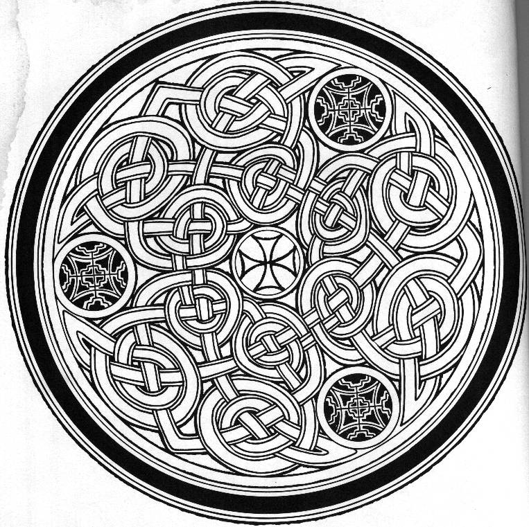 Medallion coloring #2, Download drawings