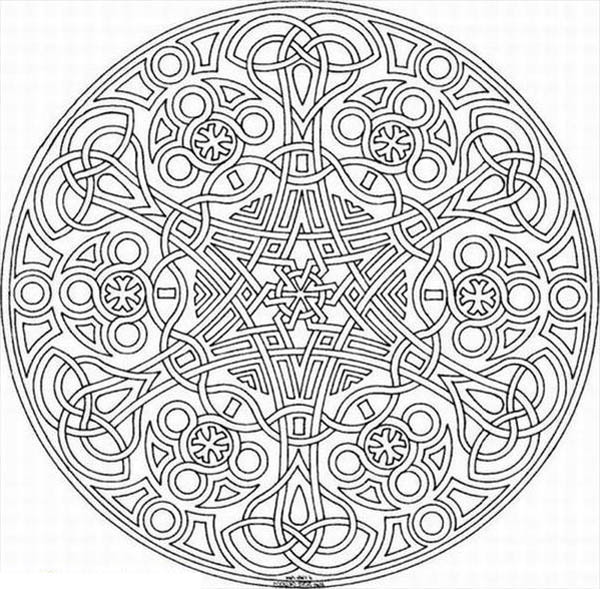 Medallion coloring #5, Download drawings