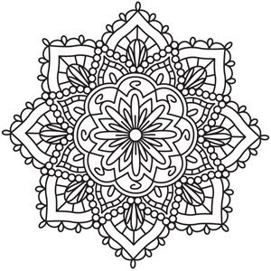 Medallion coloring #19, Download drawings