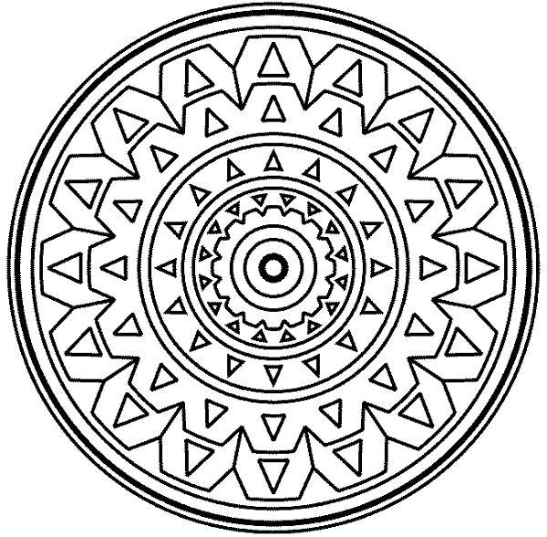 Medallion coloring #14, Download drawings