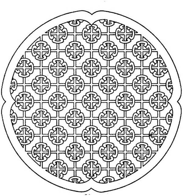 Medallion coloring #18, Download drawings