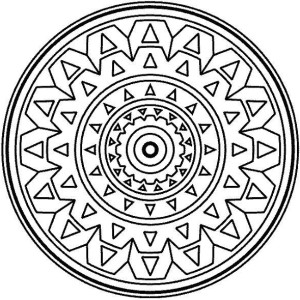 Medallion coloring #15, Download drawings