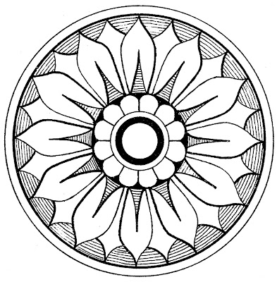 Medallion coloring #7, Download drawings