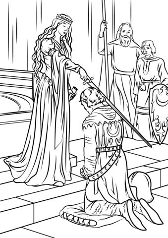 Medieval coloring #15, Download drawings