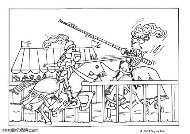Medieval coloring #12, Download drawings