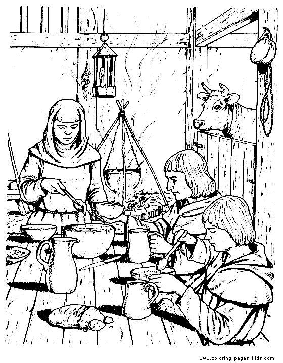 Medieval coloring #2, Download drawings