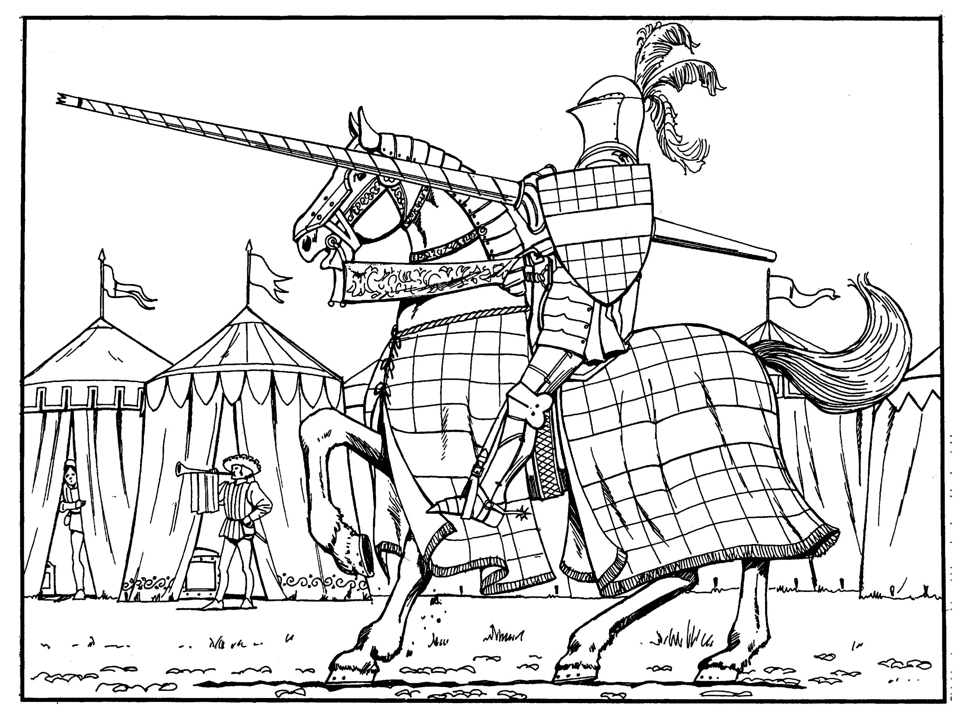Medieval coloring #7, Download drawings