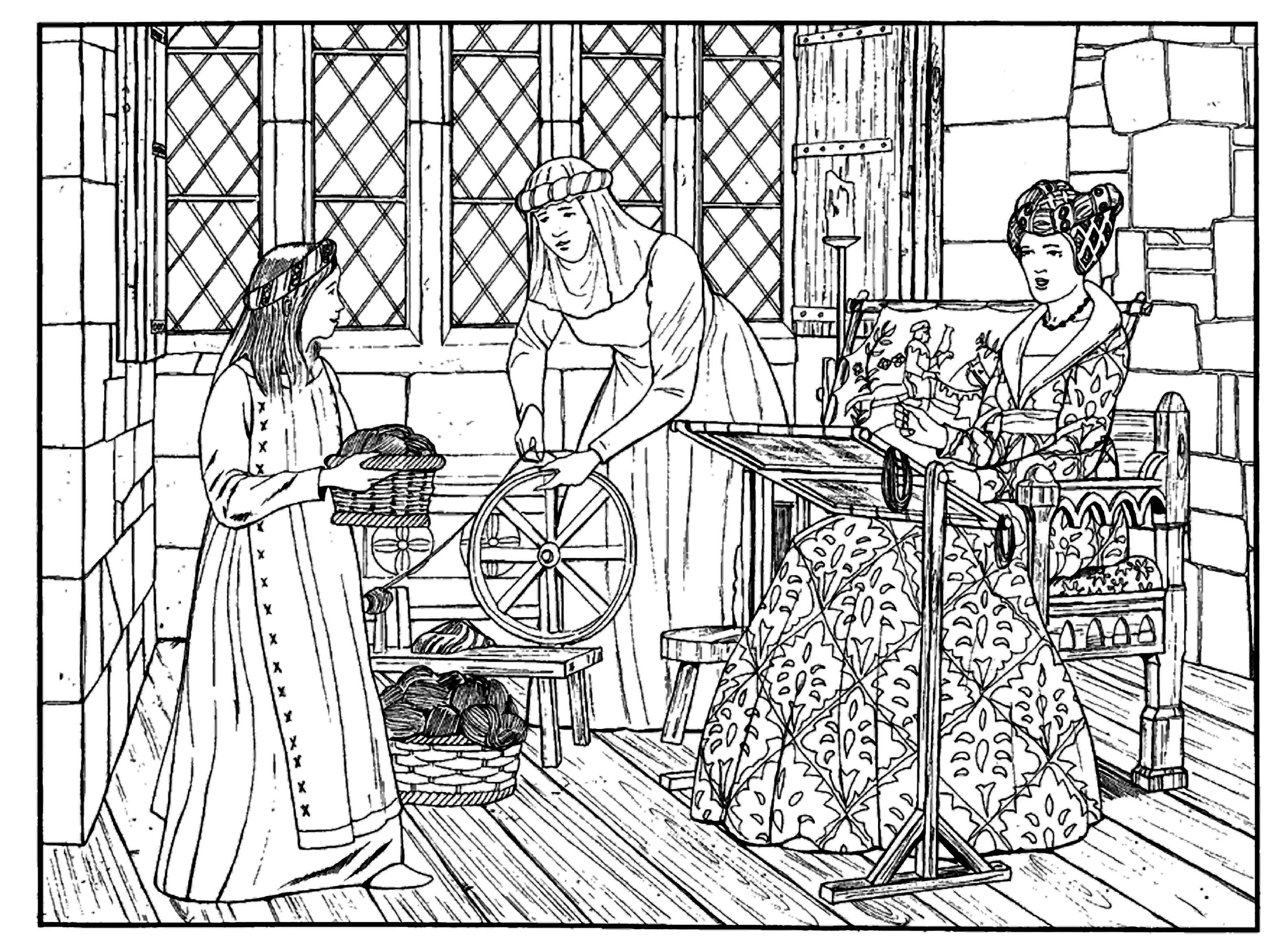 Medieval coloring #6, Download drawings